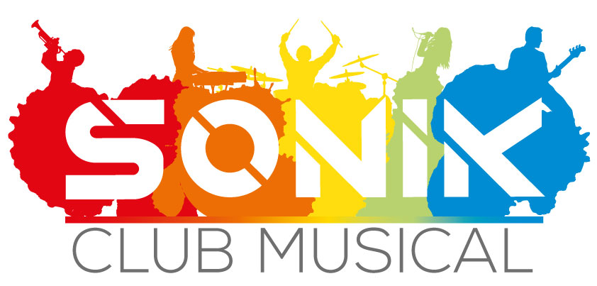 Logo Blanc Sonik Club Musical